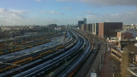 Zicht op Amsterdam CS (09-12-2010 @ 14:06)