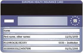 EHIC - De European Health Insurance Card