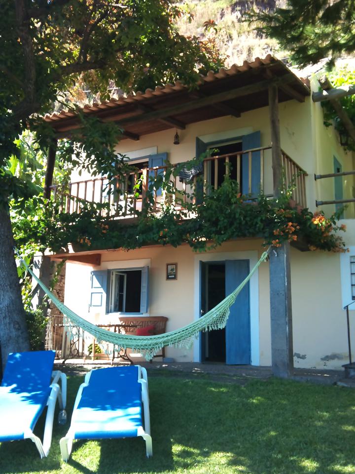Ons gehuurde particuliere huisje bij Arco de Calheta op Madeira