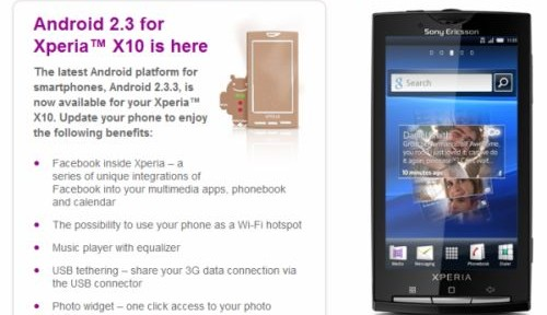 How to restore your back-up on Sony Ericsson Xperia 10 with Gingerbread (Android 2.3.3)