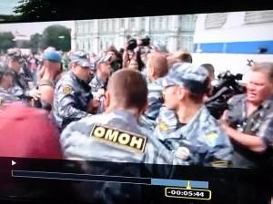Weet de russische politie wel wat er op hun rug staat?